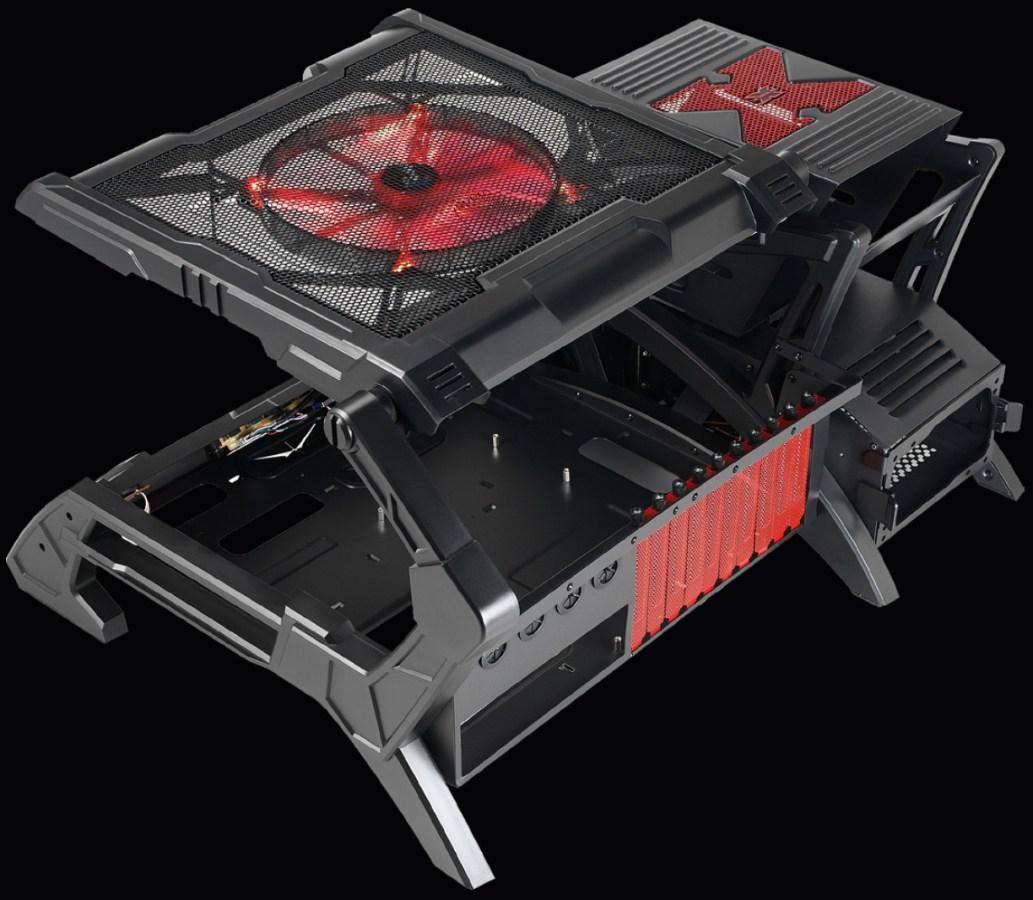 Nueva y espectacular caja de diseño abierto Aerocool Strike X Air  #9C352F 1033x900